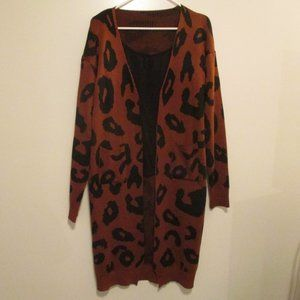 Vestidos Animal Print Women's Cardigan - L